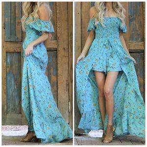 Dresses & Skirts - 🆕/MOONBEAM/ Boho Skirted Shorts Romper